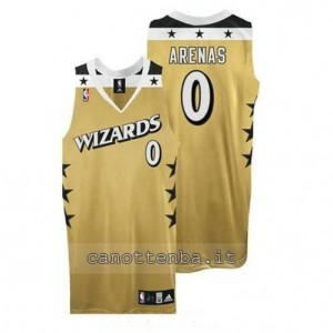 maglia gilbert arenas #0 washington wizards giallo