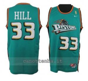 maglia grant hill #33 detroit pistons retro verde