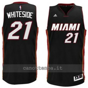 maglia hassan whiteside #21 miami heat 2014-2015 nero