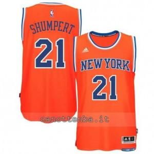 maglia iman shumpert #21 new york knicks 2015 swingman arancia