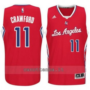 maglia jamal crawford #11 los angeles clippers 2014-2015 rosso