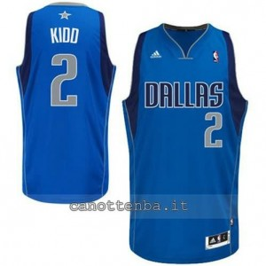 maglia jason kidd #2 dallas mavericks revolution 30 blu