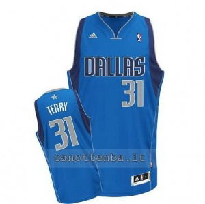 maglia jason terry #31 dallas mavericks casa revolution 30 blu