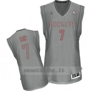 maglia jeremy lin #7 houston rockets moda grigio