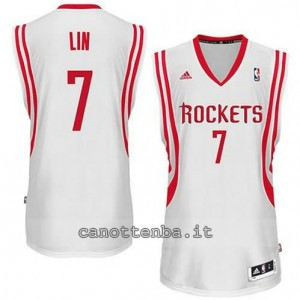 maglia jeremy lin #7 houston rockets revolution 30 bianca