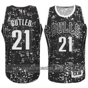 maglia jimmy butler #21 chicago bulls lights nero