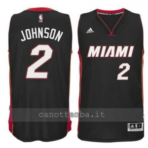 maglia joe johnson #2 miami heat 2014-2015 nero