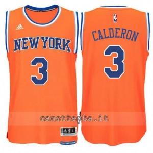 maglia jose calderon #3 new york knicks 2015 swingman arancia