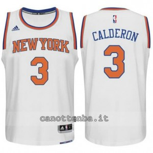 maglia jose calderon #3 new york knicks 2015 swingman bianca