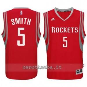 maglia josh smith #5 houston rockets 2014-2015 rosso