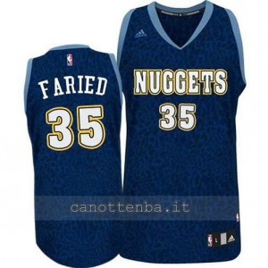 maglia kenneth faried #35 denver nuggets leopard