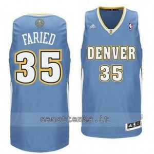 maglia kenneth faried #35 denver nuggets revolution 30 blu