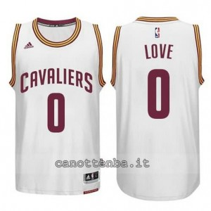 maglia kevin love #0 cleveland cavaliers 2014-2015 bianca