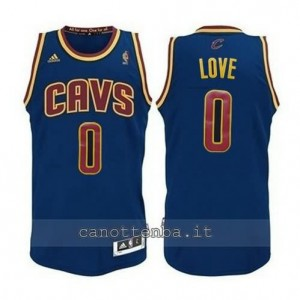 maglia kevin love #0 cleveland cavaliers revolution 30 blu