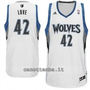 maglia kevin love #42 minnesota timberwolves revolution 30 bianca