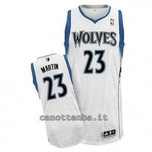 maglia kevin martin #23 minnesota timberwolves bianca