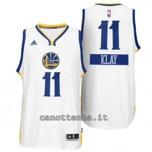 maglia klay thompson #11 golden state warriors natale 2014 bianca
