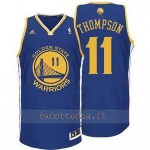 maglia klay thompson #11 golden state warriors revolution 30 blu