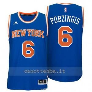 maglia kristaps porzingis #6 new york knicks 2015 blu