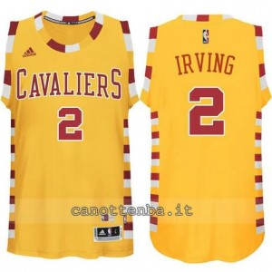 maglia kyrie irving #2 cleveland cavaliers classico giallo