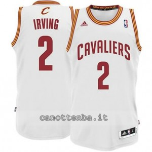 maglia kyrie irving #2 cleveland cavaliers revolution 30 bianca