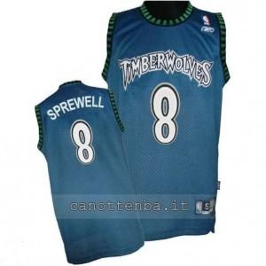 maglia latrell sprewell #8 minnesota timberwolves soul blu