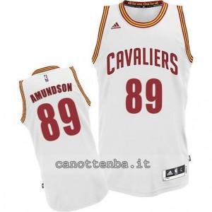 maglia lou amundson #89 cleveland cavaliers revolution 30 bianca