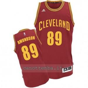 maglia lou amundson #89 cleveland cavaliers revolution 30 rosso