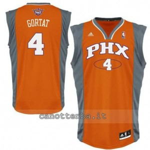 maglia marcin gortat #4 phoenix suns revolution 30l arancia