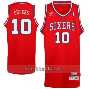 maglia maurice cheeks #10 philadelphia 76ers classico rosso