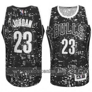 maglia michael jordan #23 chicago bulls lights nero