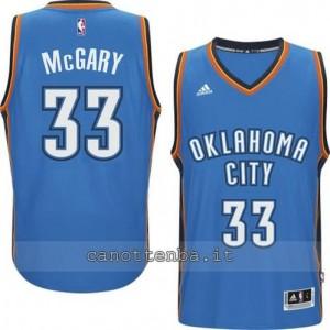 maglia mitch McGary #33 oklahoma city thunder 2014-2015 blu