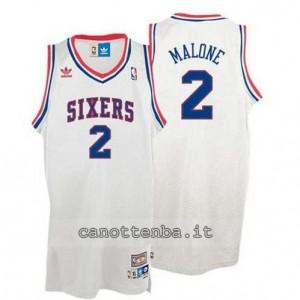 maglia moses malone #2 philadelphia 76ers soul bianca