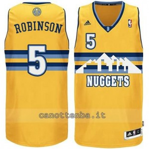 maglia nate robinson #5 denver nuggets revolution 30 giallo