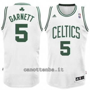 maglia nba bambino boston celtics kevin garnett #5 bianca