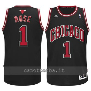 maglia nba bambino chicago bulls derrick rose #1 nero