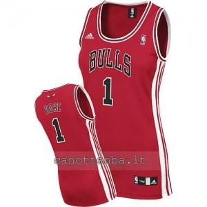 maglia nba donna chicago bulls derrick rose #1 rosso