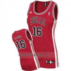 maglia nba donna chicago bulls pau gasol #16 rosso