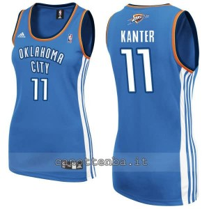 maglia nba donna oklahoma city thunder enes kanter #11 blu
