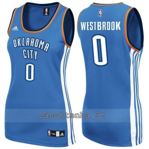maglia nba donna oklahoma city thunder russell westbrook #0 blu