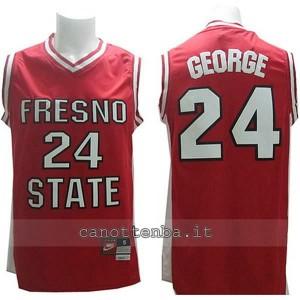 maglia ncaa fresno state bulldogs paul george #24 rosso