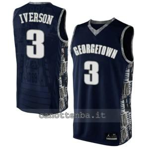 maglia ncaa georgetown hoyas allen iverson #3 nero