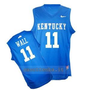 maglia ncaa kentucky wildcats john wall #11 blu