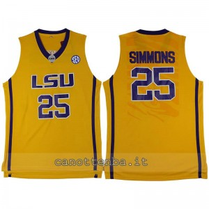 maglia ncaa louisiana state university ben simmons #25 giallo