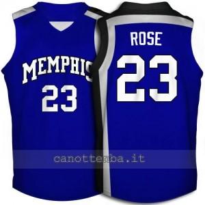 maglia ncaa memphis tigers derrick rose #23 blu