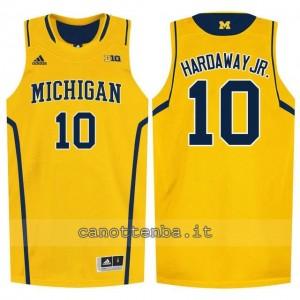 maglia ncaa michigan wolverines tim hardaway #10 giallo