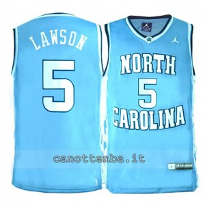 maglia ncaa north carolina tar heels ty lawson #5 blu