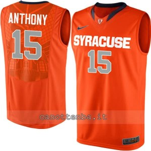 maglia ncaa syracuse orange carmelo anthony #15 arancia