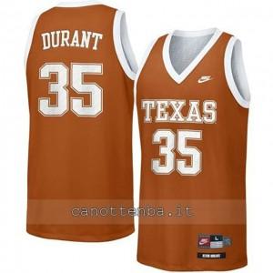 maglia ncaa texas longhorns kevin durant #35 arancia