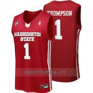 maglia ncaa washington state cougars klay thompson #1 rosso